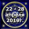Гороскоп азарта на неделю - с 22 по 28 апреля 2019г