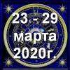 Гороскоп азарта на неделю - с 23 по 29 марта 2020г